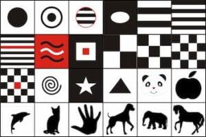 Tarjetas de estimulación visual para bebes motivos 3