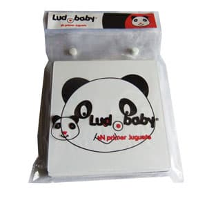 tarjeta de estimulacion visual para bebes - panda